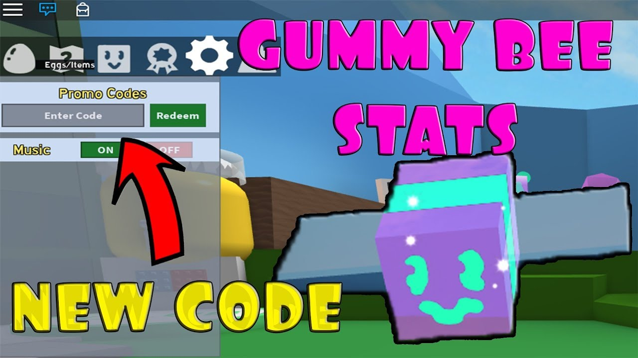 GUMMY BEE STATS + NEW CODE!!! Bee Swarm Simulator - ROBLOX