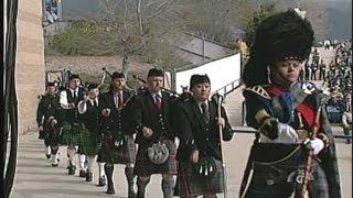 MacKay Funeral: Bagpipe tribute