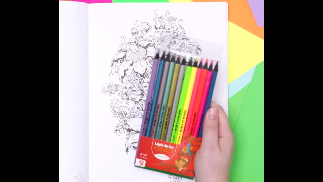 Metálicos e Neon com o novo Lápis 12 Cores Especiais