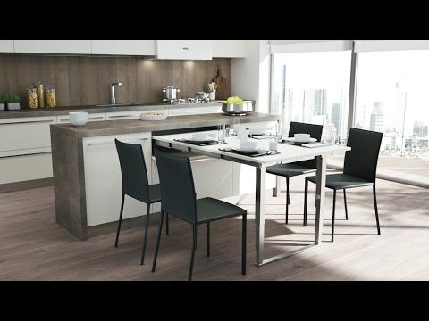 Atim Party - Pull-out table with folding leg | Tavolo estraibile da cassetto con gamba abbattibile
