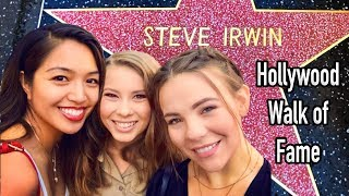 STEVE IRWIN HOLLYWOOD STAR CEREMONY & STUDIO TIME   HAVEN EVERLY VLOGS