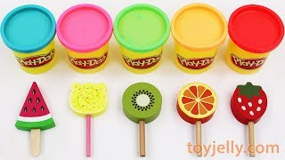 Toy Ice Cream Play Doh Popsicles Learn Colors & Fruits Tsum Tsum Suprise Egg Power Rangers Toy