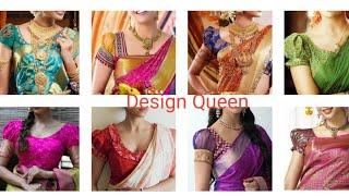 0230d2b381b385 Design Queen - Latest Blouse Back Neck Models Designs