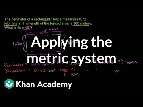 easy way to convert metric system