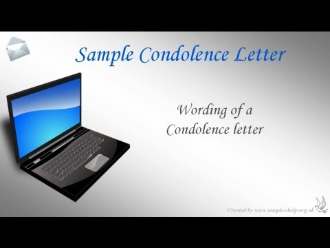 How To Write A Condolence Letter Mp3
