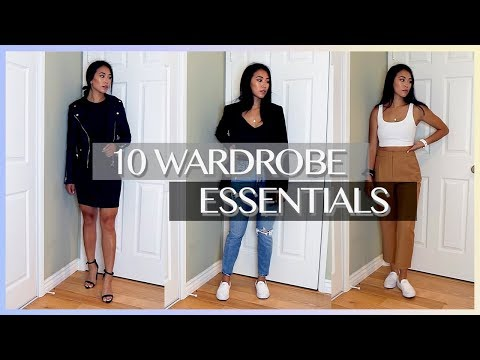 10 BASIC CLOSET ESSENTIALS – BUILDING A CAPSULE WARDROBE