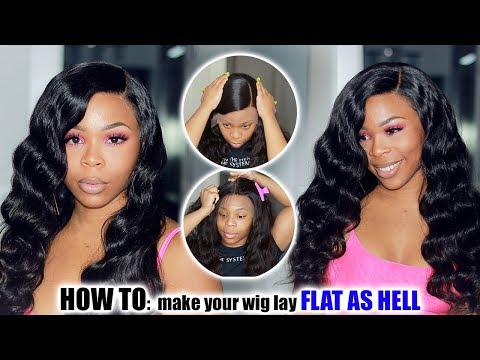 HOW TO: Make your Lace Wig SUPER FLAT As HELL  | No eggheads or high heads ft Royal Me