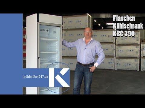 Flaschenkühlschrank Getränkekühlschrank Glastür KLEO 390 CH Gastro - www.kuehlmoebel247.de