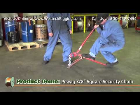YOU CAN'T CUT Pewag 3/8″ Square Security Chain with Bolt Cutters!
