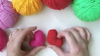 Как вязать сердце спицами?   How to knit heart?