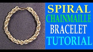 ROPE CHAIN BRACELET TUTORIAL | DOUBLE SPIRAL CHAINMAILLE