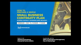 How to Prepare a Small Business Continuity Plan - Webinar