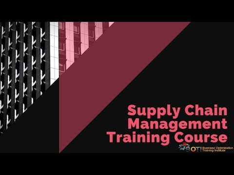Supply Chain Management Training Course - YouTube