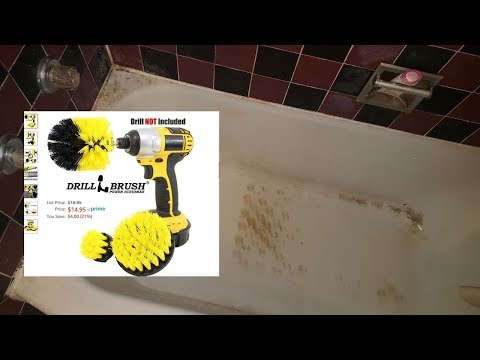 USING DRILL BRUSH FROM AMAZON | VERY DIRTY TUB UNBOXING, SAMPLE, DEMOSTRATION CLEANING