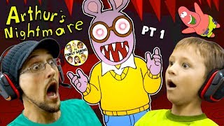 ESCAPE the CRAZY CARTOON!  Night 1 & 2  (FGTEEV vs. Arthur the Aardvark #1)