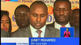 ODM endorses pact between Raila Odinga and president Uhuru Kenyatta