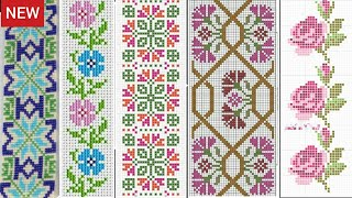 Very Clear & Visible Beautiful Cross Stitch Patterns || Cross Stitch/Dosuti Graph Border Design