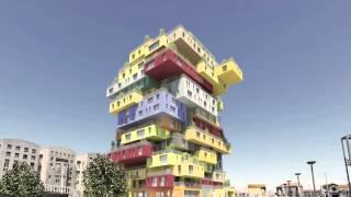A composição arquitetônica da Folie Richter, adequados vários usuários, jovens e idosos.