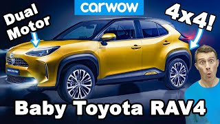 Toyota's brilliant new baby RAV4 - it's got DUAL motors!