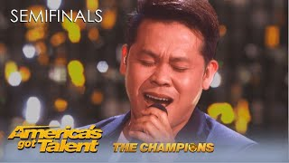 Marcelito Pomoy: Philippines Champion Solo Duet Singer BLOWS THE ROOF OFF | Semifinals AGT Champions