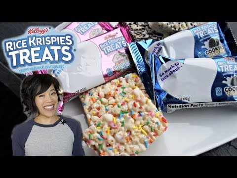 Rice Krispies Treats | Birthday Cake & Cookies 'N Cream Taste Test