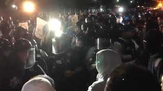 video: George Floyd protests: Violent clashes outside White House as hundreds voice anger at police killing