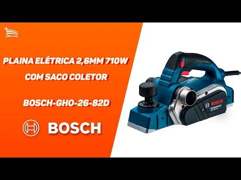 Plaina Elétrica 2,6mm 710W  com Saco Coletor - Video