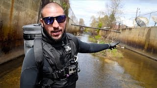 Exploring Polluted Urban Waterway!! (Police & News Involved)
