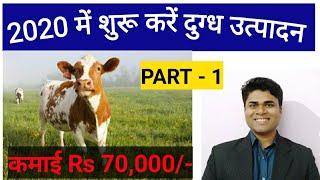 2020 में शुरू करें दुग्ध उत्पादन // How to start Dairy farm - Part  1 // dairy farming in india