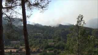 preview picture of video 'Waldbrand bei Andratx (Mallorca 2013)'