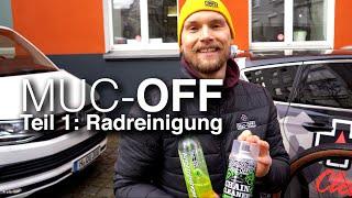 Muc-Off Teil 1/3: Radreinigung mit Nano Tech Bike Cleaner, Brush Kit, Sponge, Drivetrain Cleaner