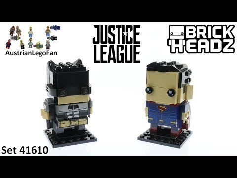 Vidéo LEGO BrickHeadz 41610 : Tactical Batman vs Superman (Justice League)
