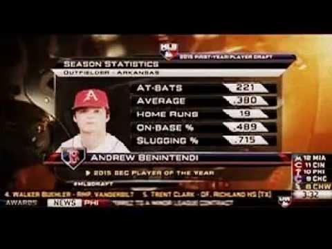 445f2cb3f Boston Red Sox draft Andrew Benintendi in the 1st Round of the 2015 MLB  Draft play