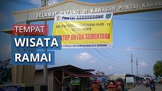 Ratusan Wisatawan di Pantai Karangsong Indramayu Berhamburan saat Dibubarkan Paksa Polisi