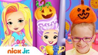 How to Make a Pumpkin Bun 🎃  Style Files Hair Tutorial | Sunny Day | Nick Jr.