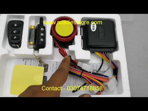 2 Way Bike Security Alarm System with Vibration Remote  UNBOXING & Testing Demo Urdu/Hindi
