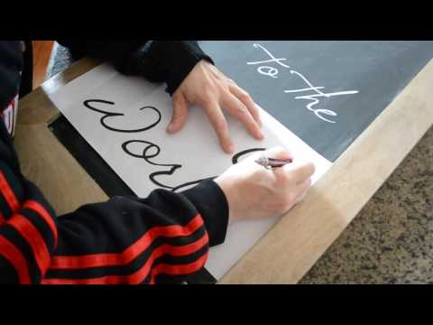 Super Easy Chalkboard Lettering