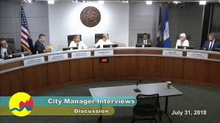 City Manager Interviews - July 31, 2018