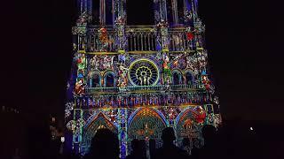 Lady of Hearts - spectacular light show | Notre-Dame de Paris - 18.10.2018