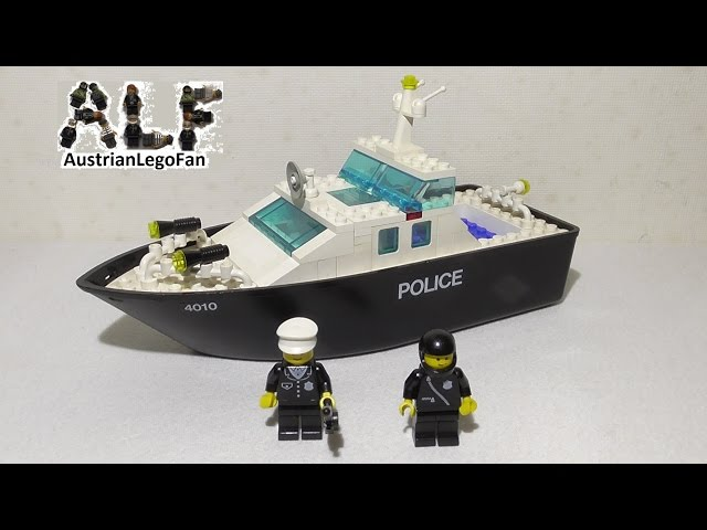 Lego Classic 4010 Police Rescue Boat / Polizeiboot - Lego Speed Build Review