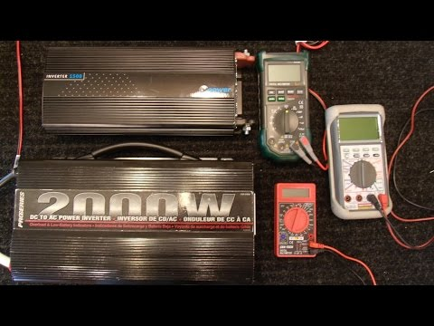 Why is My Inverter Only 80 Volts?? - Multimeters and Inverters - Pure Sine vs MSW