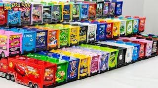 Learning Color Disney Cars Lightning McQueen Mack Truck Play for kids toys