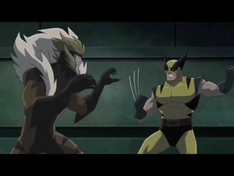 Wolverine and Hulk fight Lady Deathstrike, Sabretooth, Deadpool and Omega Red (2009)