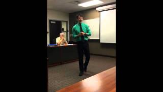 Austen Canonica - Toastmasters: Get to the Point