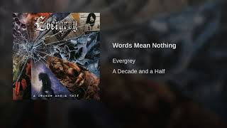 Words Mean Nothing