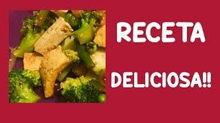Receta: Tofu con Ajos Tiernos