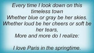 Etta Jones - I Love Paris Lyrics