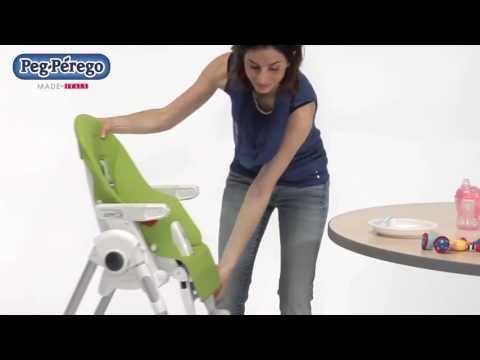 Peg-Perego стульчик Prima Pappa ZERO-3 Petrolio / кожа