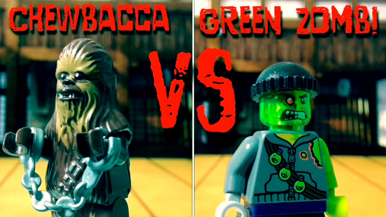 Chewbacca versus green zombi - lego fight club - club de la lucha lego - lego stop motion