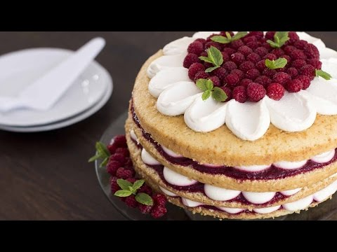 Video Raspberry Vanilla Cake Recipe